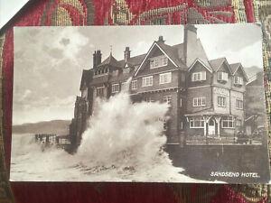 Sandsend Hotel Old Postcard 1924 Good Postmark