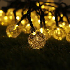 21ft 30LED String Ball Fairy Lights Party Xmas Decor Lamps Outdoor Solar