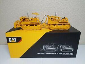 Caterpillar DD9G Dual Push Dozer Set - CCM 1:48 Scale Diecast Model New!