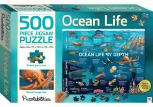 OCEAN LIFE 500 Piece Jigsaw Puzzle by Puzzlebilities Hinkler