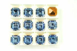 Light Sapphire Swarovski 14mm Vintage Square Octagons, 8 pieces #4671 -A0012