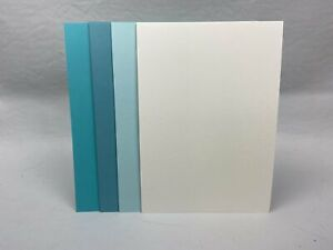 4 Colour Mix - Shades of Blue and Cream - A5 Card stock - 20 pack - Pack #2