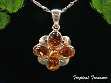 Baltic Amber & 925 SOLID Silver Pendant & chain    #196202