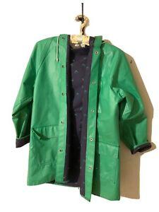 Green 80s jacket windbreaker sailor parka vintage yacht sailing women padded shoulders oversized L