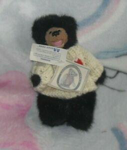a & a soft toys Kimberley's  Originals Mini Timmy Articulated Black Bear (K)