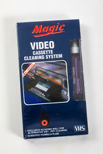 MAGIC VIDEO CASSETTE CLEANING SYSTEM VHS NEW! SEALED! VHS HEAD CLEANER!