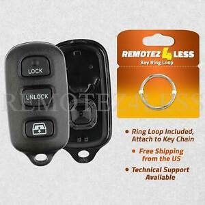 UTSAUTO Key Fob Shell 2 Pack Keyless Entry Remote Clicker HYQ12BAN Fits for 1999-2009 Toyota 4Runner 2001-2007 Sequoia