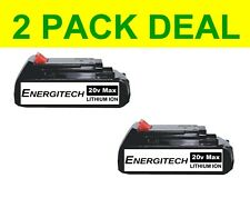2 New Replacement 20 Volt Lithium Ion Battery Only 20v MAX Bolt On 900.1648 30W