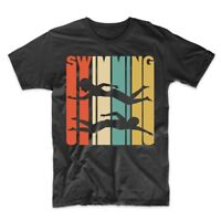Vintage Retro 1970's Style Swimming Swimmer T-Shirt