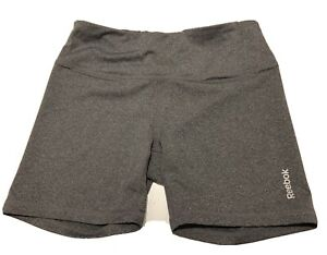 """Reebok Gray Women's Small S Fitted Athletic running shorts Compression 24"""" Waist"""