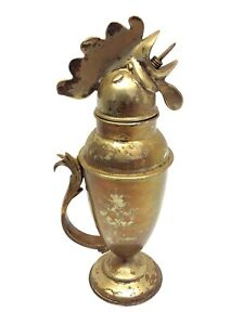 Restoration Hardware Made in India Rooster Silverplate Decorative Martini Shaker