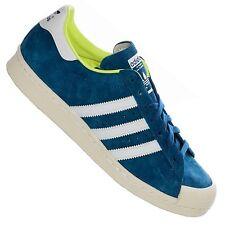 ADIDAS ORIGINALS superstar 80s half Hell cortos de cuero zapatillas de deporte azul 38 2/3