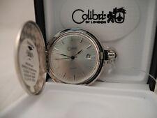 Watch W/Date New Reduced Colibri Swiss Parts Silvertone Pocket