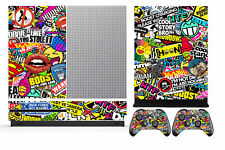Bombing 262 Vinyl Cover Skin Sticker for Xbox One S (Slim) & 2 controller skins