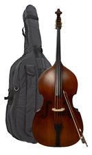 Orchestral New 3/4 Upright Double Bass Bow Brazilwood Stick Ebony Frog Round Stick