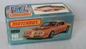 Repro Box Matchbox Superfast Nr.16 Pontiac