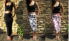 Full Length Viscose Tall Maxi Skirts for Women