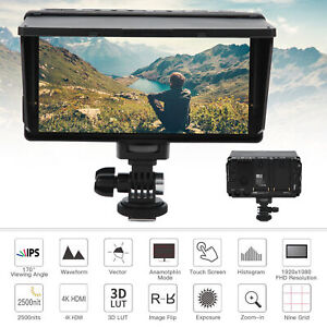 FOTGA E50 5IN 4K HDMI IPS Touch Screen Camera Field Monitor Viewfinder 2500nits
