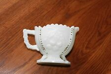 Westmoreland Grape & Cherry Creamer,4 sided with beads,link type handle