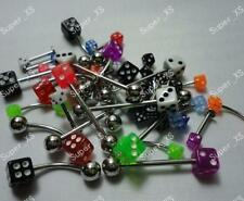 60pcs Body Piercing Labret Lip Belly Tongue Eyebrow Bar Ring Wholesale Free Ship
