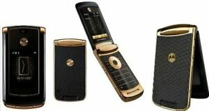New Original Unlocked Motorola Razr2 V8 - 2GB Flip GSM Mobile Phone Gold
