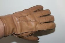 New listing Vintage Leather Gloves Tan Sherpa Shearling Fleece Lined Men's Size M 9.5 9-1/2