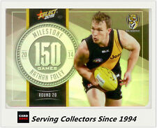 2015 AFL Champions Milestone Holofoil Card MG72 Nathan Foley (Richmond)