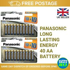 40 Panasonic AA Long Lasting Energy Battery ***Free 🇬🇧 DELIVERY***