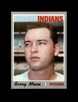 1970 Topps Baseball #366 Barry Moore (Indians) NM+