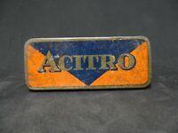 "Vintage Soviet Metal Tin Box USSR ""ACITRO"""