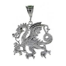 12.5 gram Sterling Silver Dragon Large Pendant