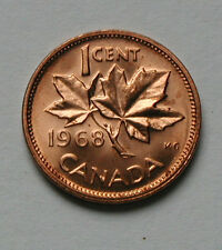 1968 CANADA Elizabeth II Coin - 1 Cent - UNC red lustre (from mint roll)