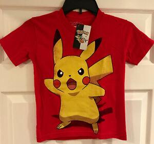 Vintage Angry Pikachu T-Shirt Tee Shirt Boys Size Small S Nintendo / Game Freak