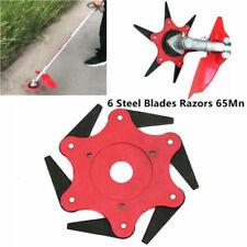 6 Steel Blades Razors 65Mn Lawn Mower Grass Eater Trimmer Head Brush Cutter