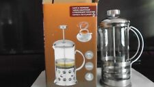 NEW IN BOX STAINLESS STEEL TEA & COFFEE PLUNGER 350ml