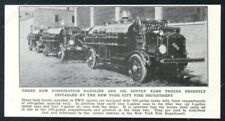 1923 Fwd fire engine gas oil supply truck Fdny New York City photo print article