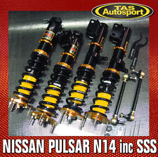 YELLOW-SPEED COILOVERS SUSPENSION NISSAN PULSAR N14 91-94 inc SSS yellowspeed