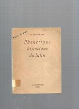 Phonétique historique du latin M Niedermann REF E26