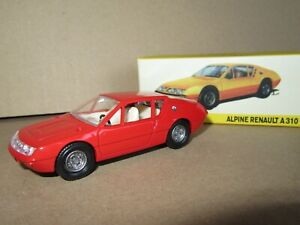 606P Dinky-Toys 1411 Atlas Chine Alpine Renault A310 Rouge 1:43 Neuf + Boite