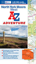 A-Z North York Moors (West) Adventure Atlas (OS 25000 mapping)