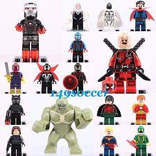 16pcs Set Dc comics Marvel Super hero Captain Marvel Minifigures Custom Lego