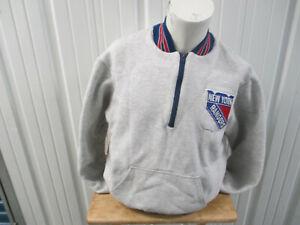 VINTAGE RENNOC NHL NEW YORK RANGERS LARGE SEWN GREY JACKET 80s 90s PREOWNED