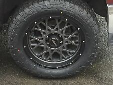 "20"" Vision 412 Rocker Fuel AT 305/55R20 Wheel and Tire Package Ford F250 8x170"