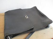 Spacieux sac a soufflets homme porté épaule ou bandouliere cuir noir