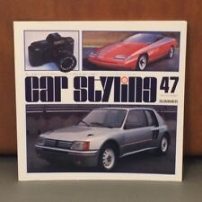 Car Styling Magazine Book #47 1984, Peugeot, Toyota MR2, Daihatsu, Aerodynamics
