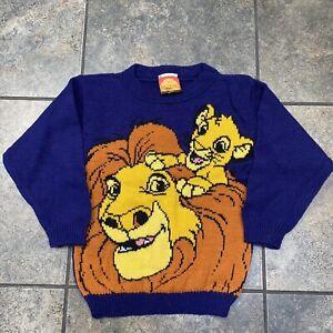 Boy's/Kid's VTG Disney The Lion King Crewneck Sweater Size Small 4/5