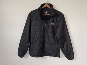 The North Face Black Nylon Quilted Lightweight Full Zip Puffer Jacket Polyester