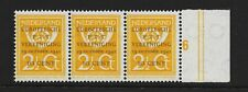 Netherlands 1943 - Union of European Post Office and Telecoms - strip of 3 - MNH