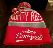 Liverpool Red, Grey and White Bobble Hat - Mighty Reds - Great Gift Idea
