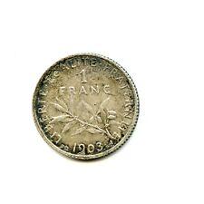 1 franc argent Semeuse 1903 ( rare ) de qualité n°E942